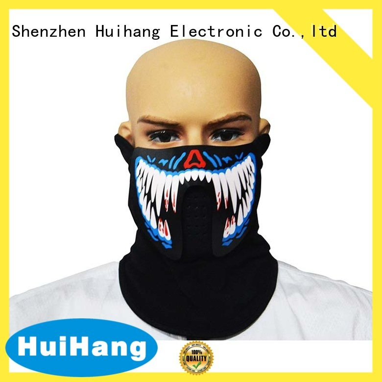 Huihang inexpensive led neon mask manufacturer for party