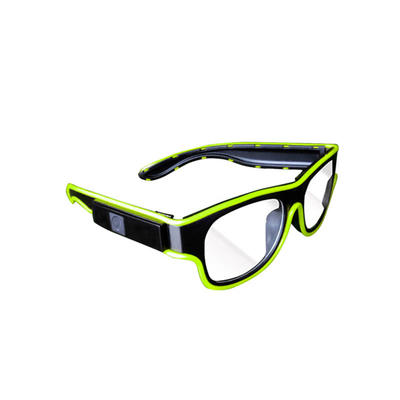 EL Wire Neon LED Glasses Glowing Novelty Light Festival Party Sunglasses with Sound Control
