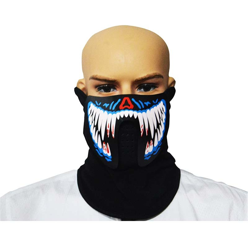 Festivals Party Supplies LED Mask Hot Sale Neon Mask EL Face Mask