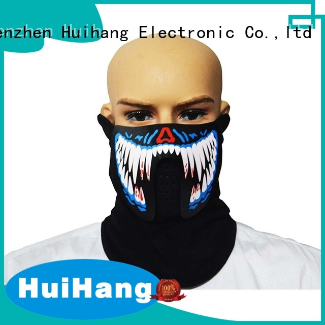 Huihang smooth voice activated led mask for concert
