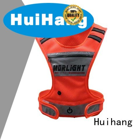 Huihang reflective safety vest with led lights on sale