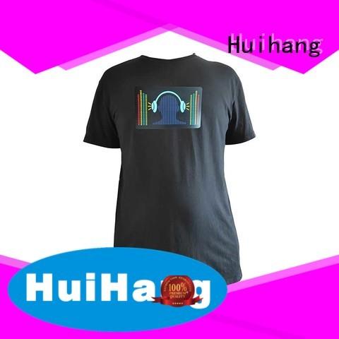 Huihang durable led t shirt marketing for disco