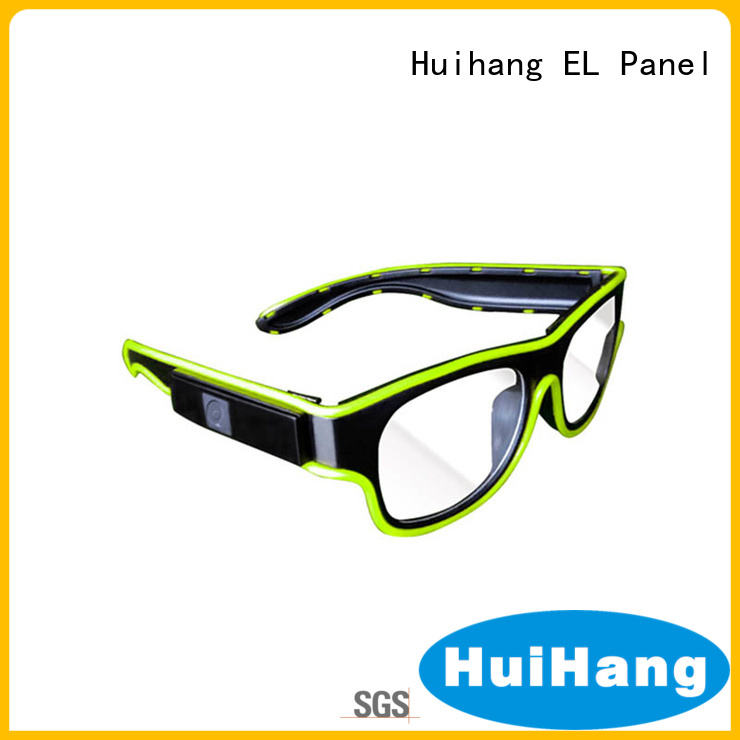 Huihang shine el wire glasses marketing for bar