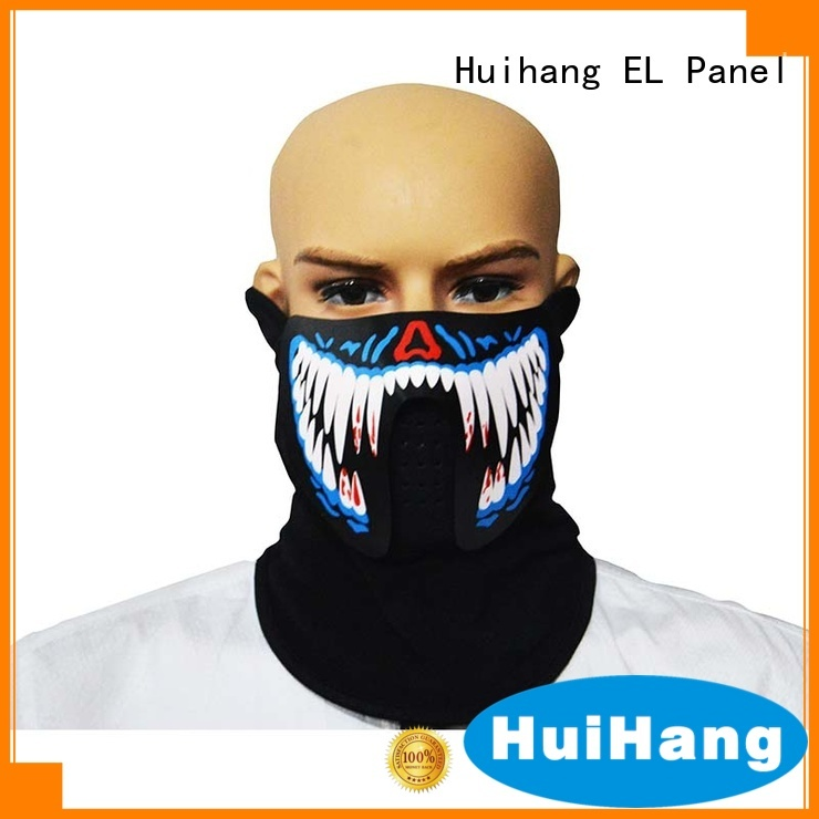 Huihang simple sound activated led mask vendor for party