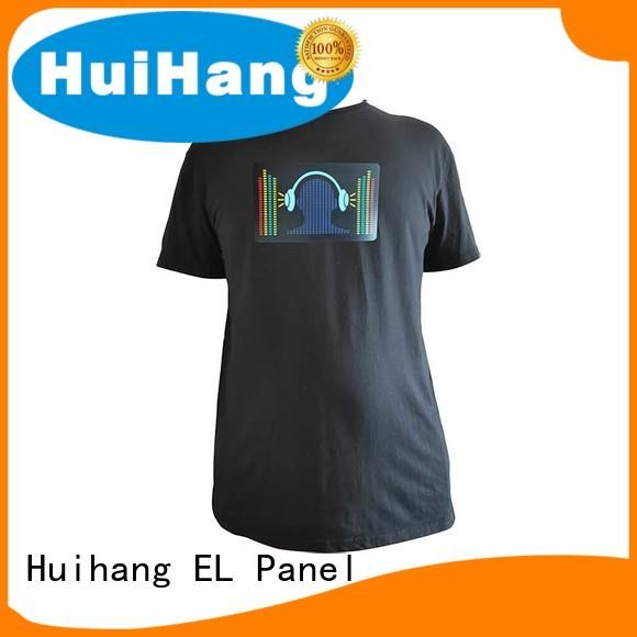 Huihang high quality light up t shirt for club