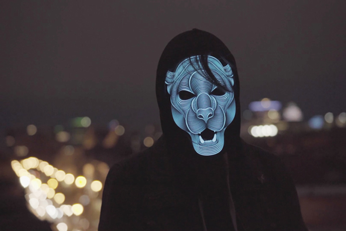voice activated led mask, el mask, sound activated rave mask