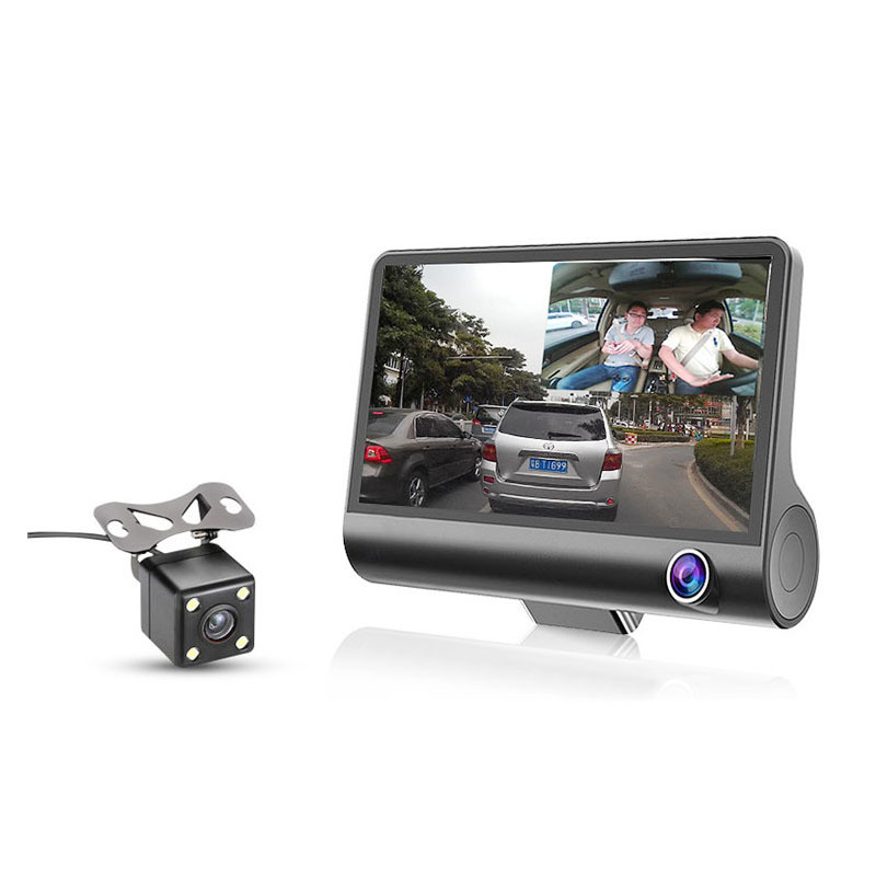 3 in 1 car dvr with radar detector + gps (Russian pre-warning data),front and rear car camera recorder