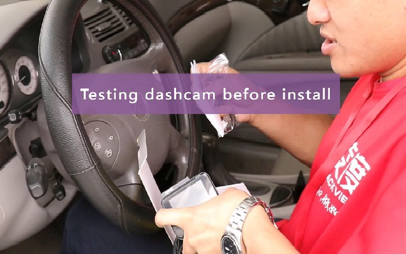 Car dash cam installation
