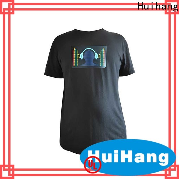 Huihang simple led t shirt overseas market for concert