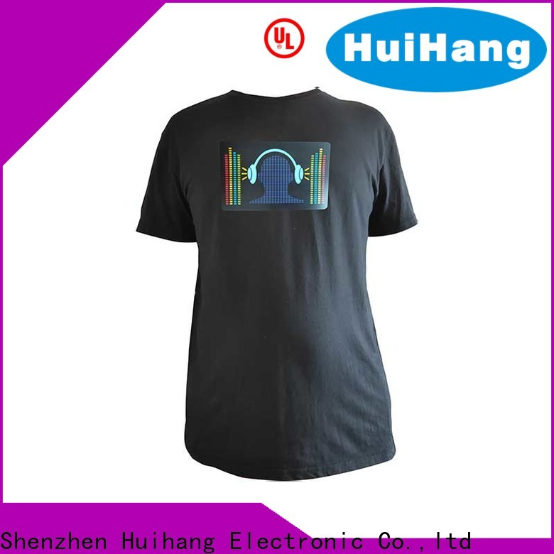 Huihang led t shirt overseas market for club