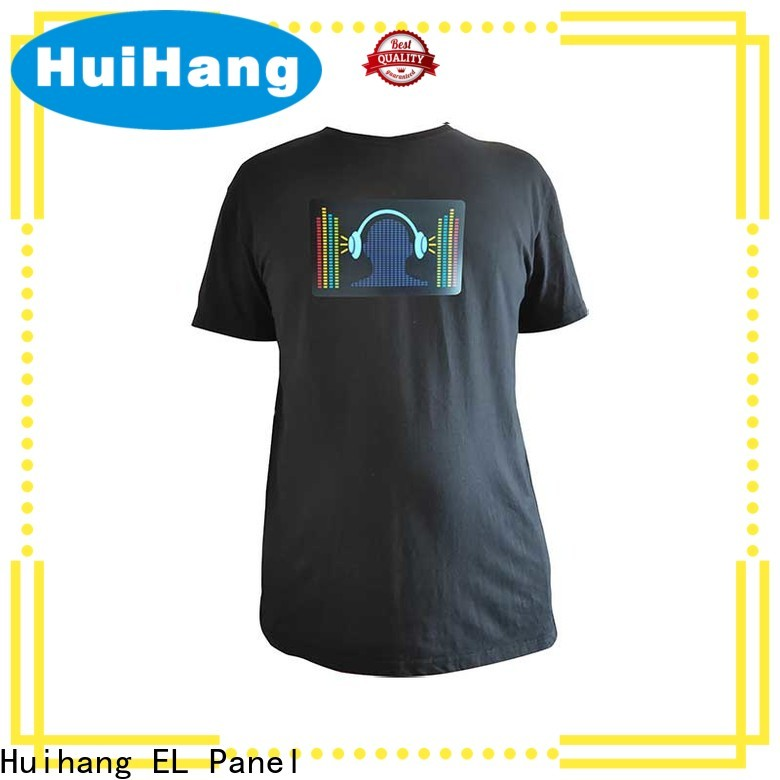 Huihang smooth led t shirt overseas market for club