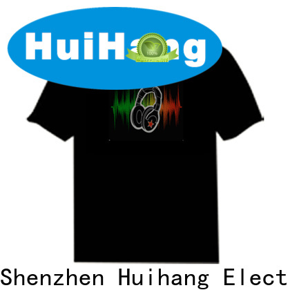 Huihang sound activated shirt supplier for club