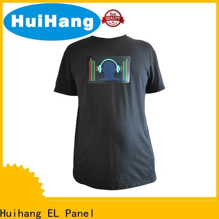 Huihang high quality el panel shirt manufacturer for club