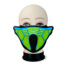 New arrival sound activated el panel face mask light up cosplay party