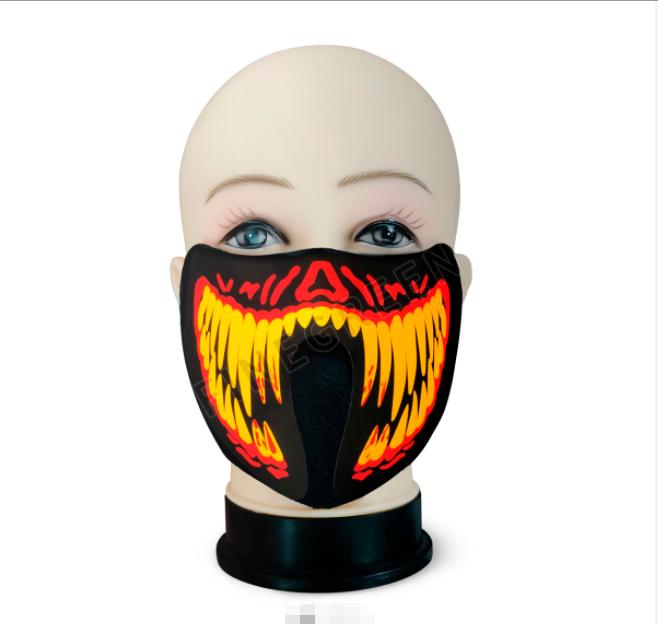 2021 LED sound activated mask, Lighting el mask