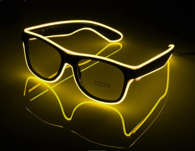 Huihang shine el wire glasses owner for concert-1