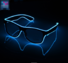 New type,EL wire glasses Rechargeable LED Glasses Wireless for Party Night Club Barware Concert