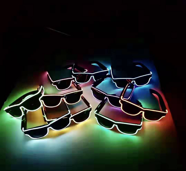 Discount! Low Price Light Up Led Shutter Glasses Light Up Flashing Neon El Wire Glasses For Costume Party Decoration