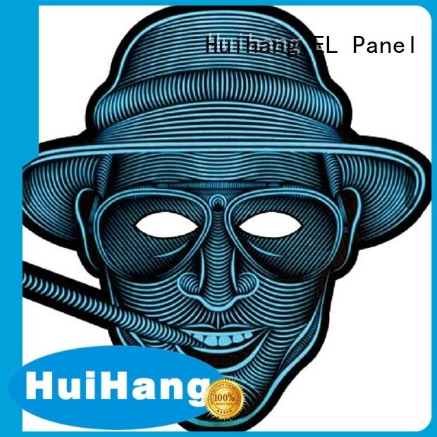 Huihang fashion design light up mask grab now for sport meeting