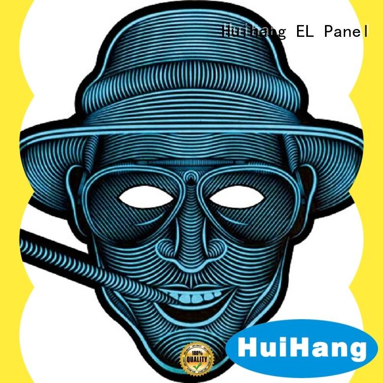 Huihang inexpensive el panel mask order now for sport meeting