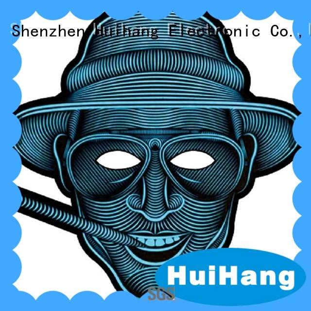 Huihang light up mask vendor for disco